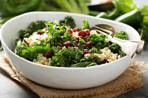 Craving Cranberries? Make This Cranberry Kale & Quinoa Salad With Cranberry Dressing Recipe