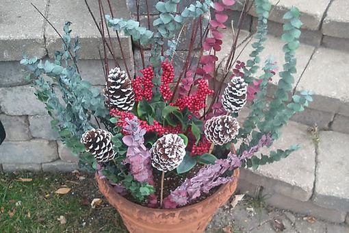 Decorate Outdoor Holiday Planters & Then Let Them Freeze (Really)!