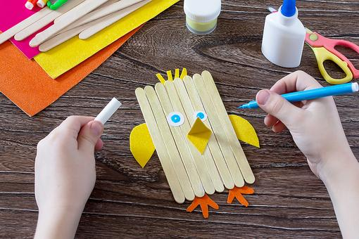 Easy Spring Crafts for Kids: How to Turn Craft Sticks Into an Adorable Chick
