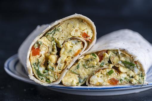 Egg White Mediterranean Breakfast Burrito Recipe: Roll Up an Easy, Healthy Breakfast in 15 Minutes