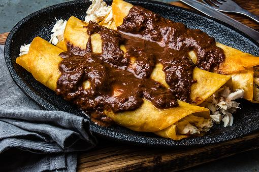 Cinco de Mayo Recipes: An Easy Mole Chicken Enchiladas Recipe You Can Make in Less Than an Hour