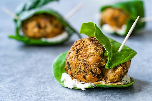 Creative Christmas Appetizers: Falafel Balls With Spinach & Cream Cheese Are Serious Holiday Eats