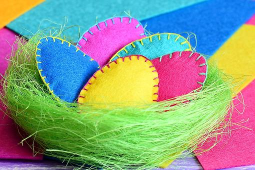 Easter Crafts for Kids: Felt Easter Eggs Are a Simple Spring Craft for Families