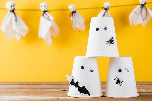 Ghost Crafts for Kids: These Ghosts Made Out of Disposable Cups Could Be the Easiest Halloween Craft Ever