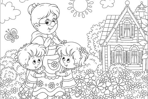 Grandparents Coloring Pages: Free & Fun Printable Coloring Pages of Grandmas & Grandpas for Kids