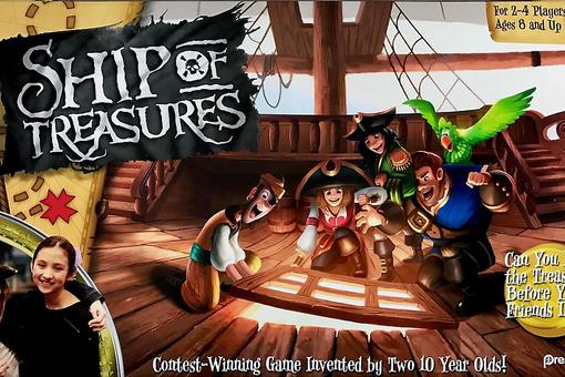 Ship of Treasures: A Family Game for Ages 8 & Up Invented By Two 10-Year-Olds!
