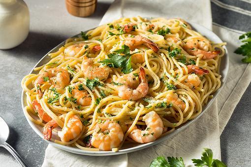 30-Minute Greek Pasta Recipe: Delicious Lemon Pasta Recipe With Shrimp & Creamy Feta