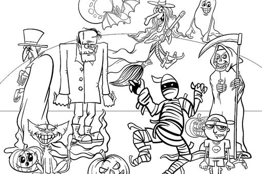 Halloween Coloring Pages: 10 Free Spooky Printable Activities for Kids