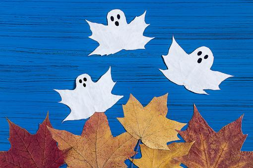 Easy Halloween Ghost Crafts: How to Make Ghosts Out of Fall Leaves
