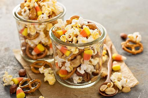Fall Snack Mix Recipe: A Crunchy Popcorn Snack Mix for Fall Snacking (and Halloween Night!)