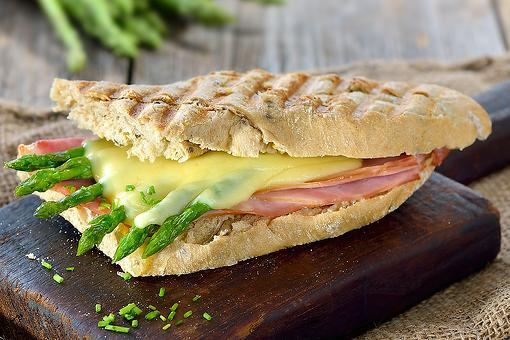 Easy Panini Recipes: This Ham & Asparagus Panini Recipe Celebrates the Spring Vegetable