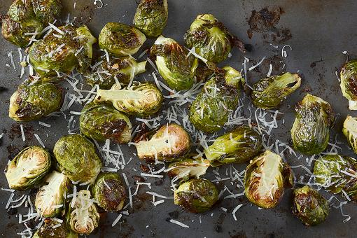 This Lemon Parmesan Roasted Brussels Sprouts Recipe Will Surprise You (In a Good Way)