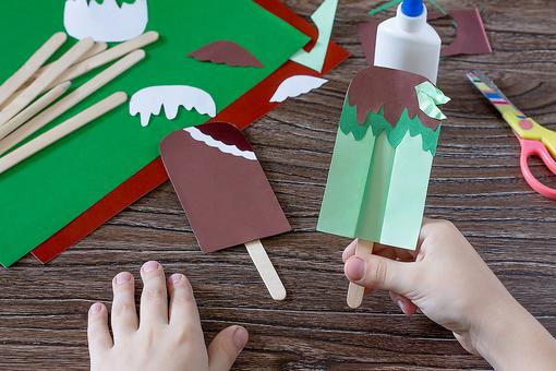 Homeschool Crafts for Kids: How to Make Sweet Paper Ice Cream Treats