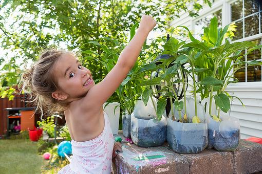 Recycling Crafts for Kids: How to Make DIY Garden Planters Out of Milk Jugs for Mother's Day