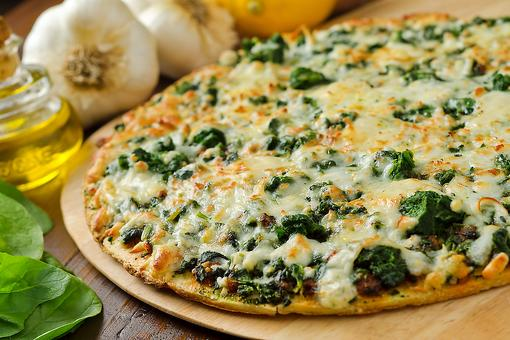 Creative Pizza Recipes: And It's Roasted Garlic Spinach Pizza for the Win