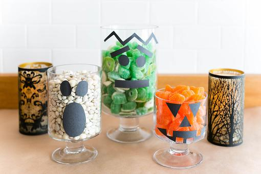 How to Make Spooky Halloween Glass Vases With Faces (It's So Easy)