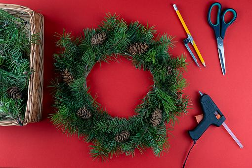 How to Make a DIY Pine Wreath: Grab Your Glue Gun & Make This Homemade Holiday Pine Wreath in Less Than an Hour