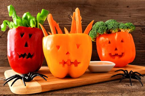 Halloween Party Ideas: How to Make Jack 'o Lantern Bell Pepper Serving Bowls