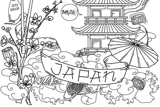 Japan Coloring Pages: Free Printable Coloring Pages of Japan – From Food to Places to People