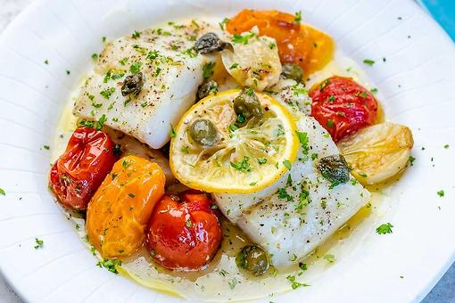Lemon Garlic Baked Cod Recipe: A Beautiful & Healthy Fish Recipe That's Ready in About 20 Minutes