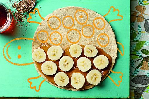 How to Make ​Sunflower Seed Butter, Banana, Flaxseed & Maple Wraps!