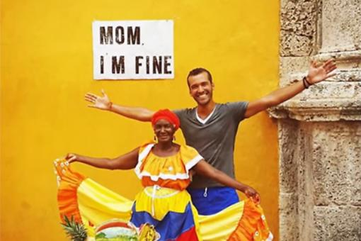 Mom, I'm Fine: Jonathan Kubben Travels the World & Assures His Mom He's Safe! Watch This!