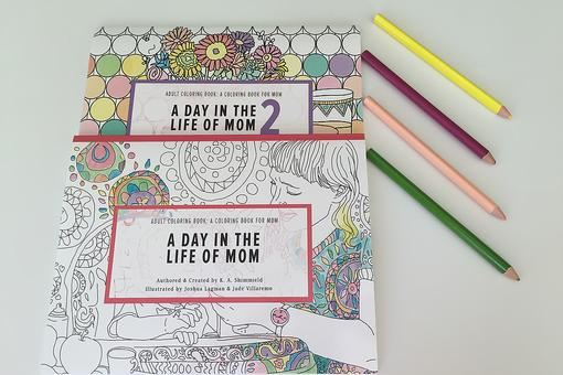 Mom, Need a Good Laugh & to Relax? Try This Adult Coloring Book!