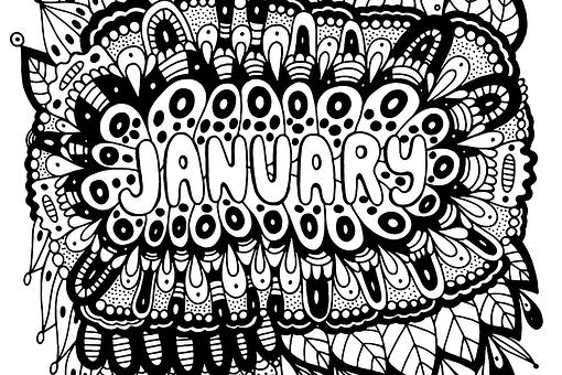 Month Coloring Pages: Free Printable Mandala Months Zentangle™-Inspired Coloring Pages