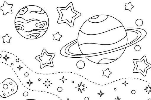 Outer Space Coloring Pages for Kids: Fun & Free Printable Coloring Pages That Are Out of This World