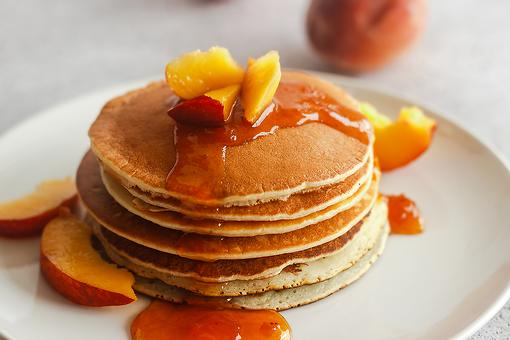 Easy Peach Pancakes Recipe: This Peach Pancakes With Peach Syrup Recipe Is Just Peachy