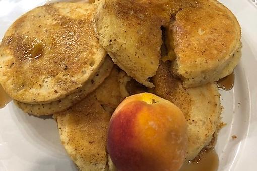 Peach-Stuffed Sourdough Pancakes Recipe: This Summer Peach Griddle Cake Recipe Is Gluten-free