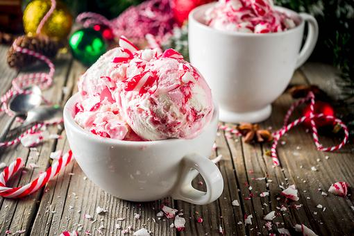 Peppermint Candy Cane Ice Cream Is All You Need for Christmas