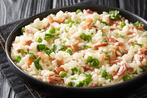 Leftover Ham Recipes: This Easy Risi e Bisi Recipe Is Italian Rice With Peas & Ham