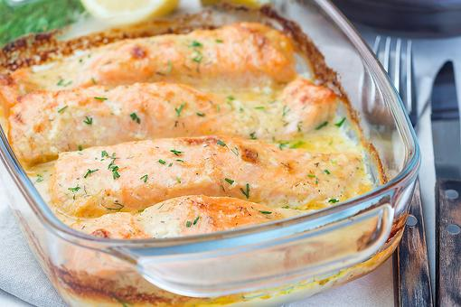 This Oven-baked Salmon in a Creamy Lemon Butter Sauce Recipe Will Make You a Weekday Gourmet
