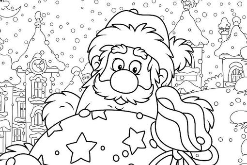 Santa Claus Coloring Pages for Kids & Adults: 10 Free Printable Coloring Pages of Jolly Old St. Nick
