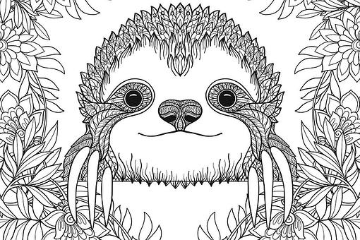 Sloth Coloring Pages: Free Printable Coloring Pages of Sloths to Help You Slow Down & Relax (Like a Sloth)