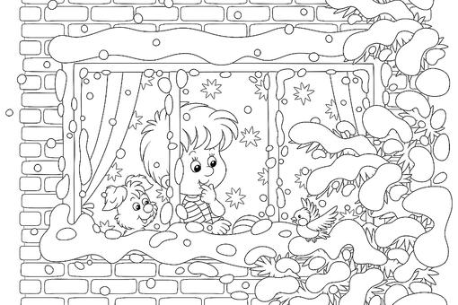 Snow Coloring Pages: Free Printable Winter Snow-Themed Coloring Pages for Kids