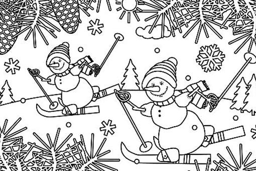 Snowman Coloring Pages for Kids & Adults: 10 Printable Coloring Pages of Snowmen for Winter Fun