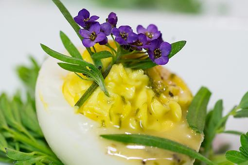 Chef Melissa Cookston's Southern Deviled Eggs With Chive-Truffle Vinaigrette Recipe Is a Southern Staple – Elevated