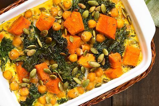 Chipotle Butternut Squash, Kale & Chickpea Casserole Recipe: This Fall Casserole Recipe Is a Vegetable Lover's Dream