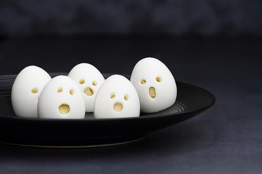 Halloween Breakfast: How to Make Spooky Ghost Hard-boiled Eggs!