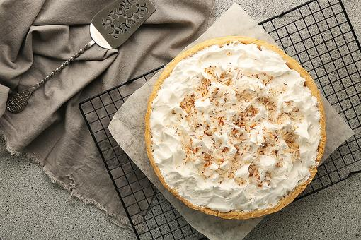 Malibu Rum Toasted Coconut Custard Tart: Close Your Eyes & You're in the Tropics