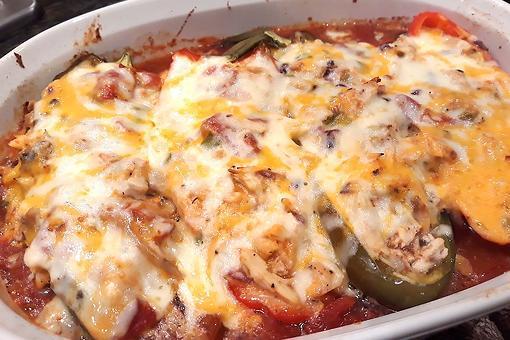 Easy Stuffed Peppers Recipe: The Best Cheesy Chicken Stuffed Cubanelle Peppers