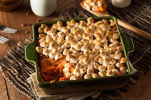 This Sweet Potato Casserole With Marshmallows Recipe Is a Thanksgiving Must