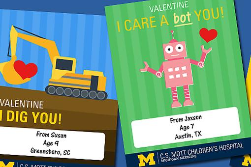 C.S. Mott Children's Hospital: Take 30 Seconds to Send a Valentine to a Child in the Hospital!