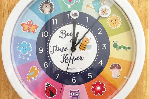 Teaching the Concept of Time With the Bee a Time Keeper Clock