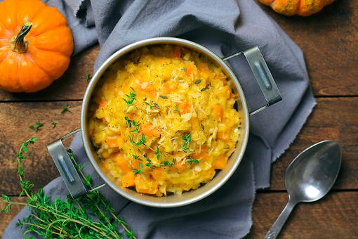 The Perfect Autumn Meal: How to Make Pumpkin Risotto With Acorn Squash & Smoked Scallops