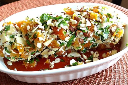 This Goat Cheese With Apricot, Almonds & Honey Appetizer Recipe Is Fancy ... Fast!