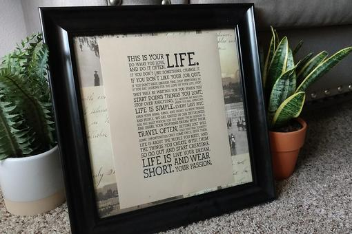 This Is Your Life: How to Turn an Inspirational Quote Into DIY Wall Art (& the Perfect Gift)