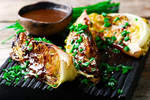Grilled Cabbage Wedges With Gochujang-Miso Glaze Recipe: This Easy Asian-Inspired Cabbage Recipe Is a Showstopper